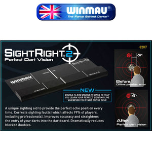 WINMAU Darts - Training Accessories - SightRight 2 - Perfect Dart Vision