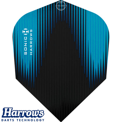 Dart Flights - Harrows - Sonic-X - Standard Dart Flights Aqua Blue