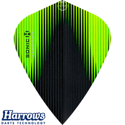 Dart Flights - Harrows - Sonic-X - Kite Dart Flights Green