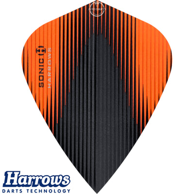 Dart Flights - Harrows - Sonic-X - Kite Dart Flights Orange
