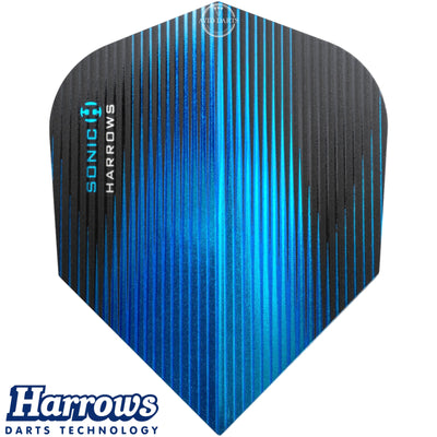 Dart Flights - Harrows - Sonic - Standard Dart Flights Aqua Blue