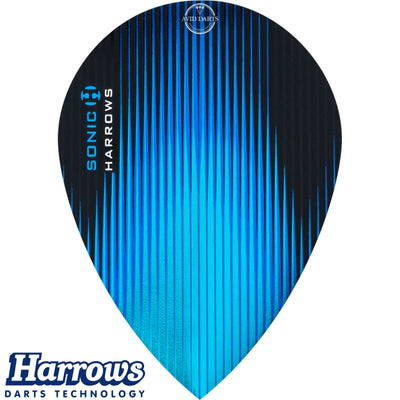 Dart Flights - Harrows - Sonic - Pear Dart Flights Aqua Blue