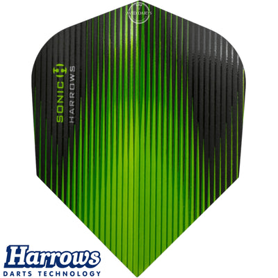 Dart Flights - Harrows - Sonic - Standard Dart Flights Green