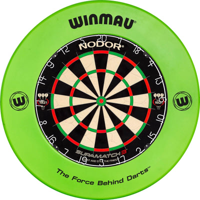 Dartboards - Nodor - Supamatch 3 Dartboard & Winmau Surround Package Green