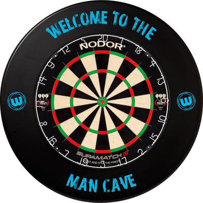 Dartboards - Nodor - Supamatch 3 Dartboard & Winmau Surround Package Man Cave