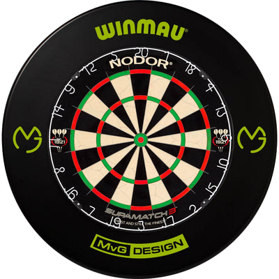 Dartboards - Nodor - Supamatch 3 Dartboard & Winmau Surround Package MvG