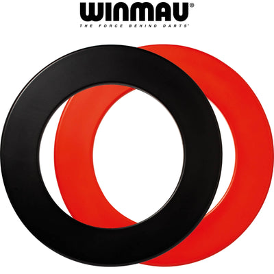 Dartboard Accessories - Winmau - Plain 1 Piece Dartboard Surround - Black Red