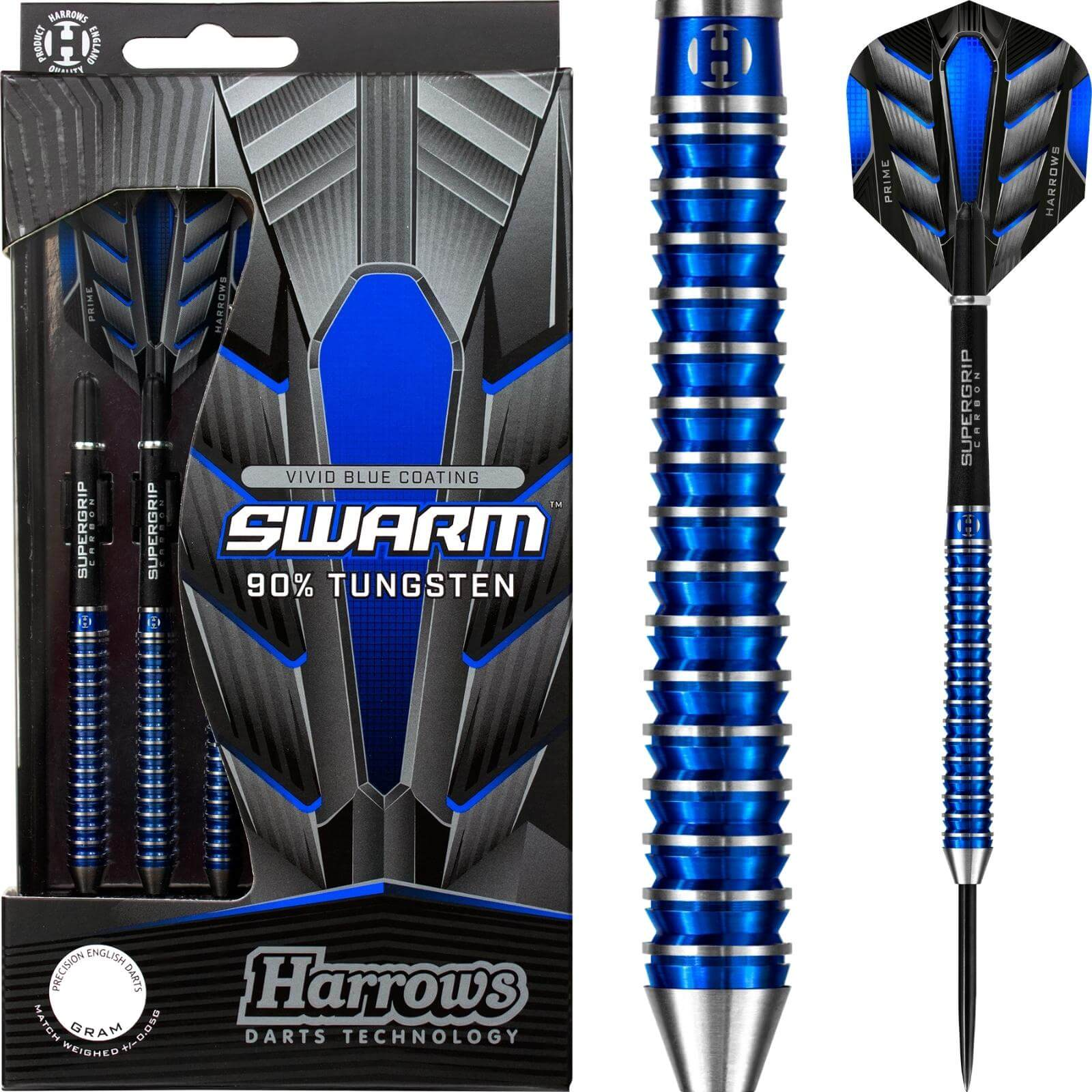 Darts - Harrows - Swarm Darts - Steel Tip - 90% Tungsten - 21g 22g 23g 24g 25g 26g