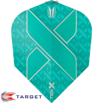 Dart Flights - Target - Ten-X - Small Standard Dart Flights Aqua