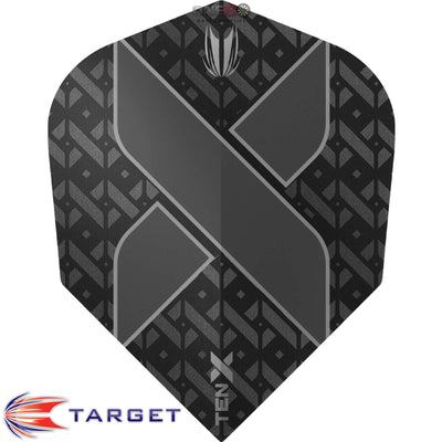 Dart Flights - Target - Ten-X - Small Standard Dart Flights Black