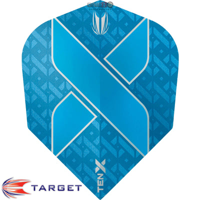 Dart Flights - Target - Ten-X - Small Standard Dart Flights Blue