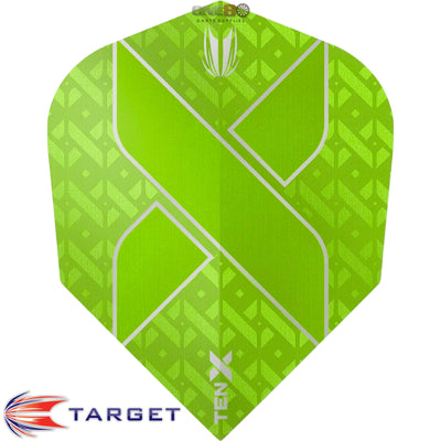 Dart Flights - Target - Ten-X - Small Standard Dart Flights Lime Green