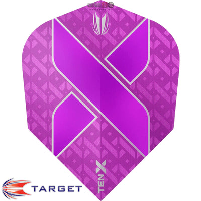 Dart Flights - Target - Ten-X - Small Standard Dart Flights Purple