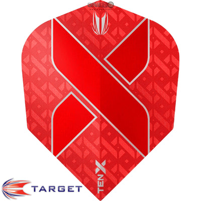 Dart Flights - Target - Ten-X - Small Standard Dart Flights Red