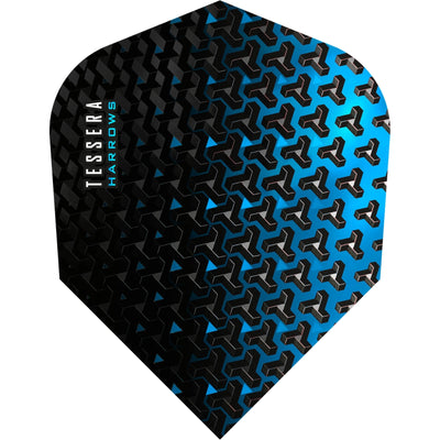 Dart Flights - Harrows - Tessera - Standard Dart Flights Blue