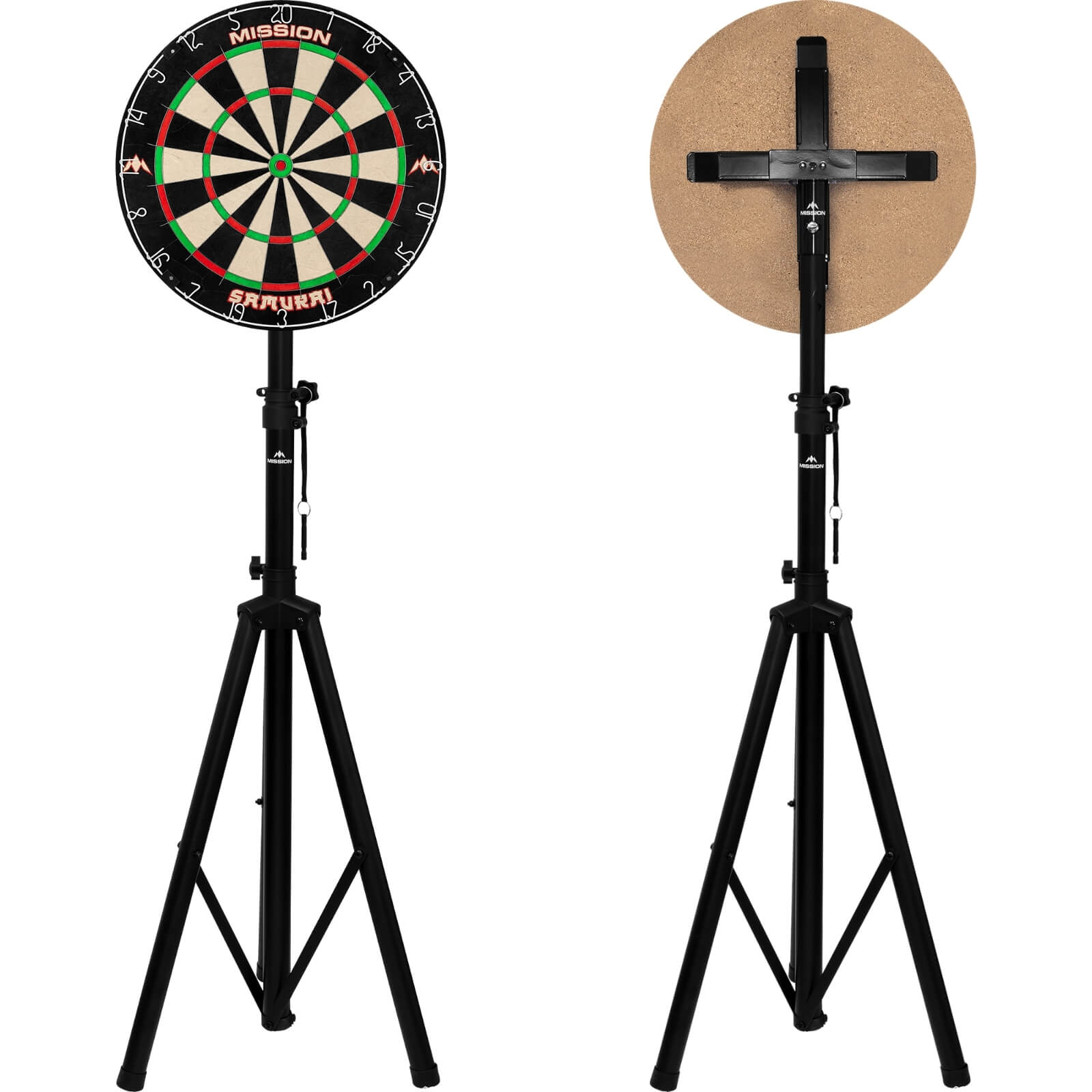 Dartboard Accessories - Mission - Travel Dartboard Stand - With Pro Bracket