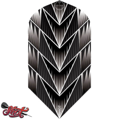 Dart Flights - Shot - Slim Dart Flights Tribal Weapon Black