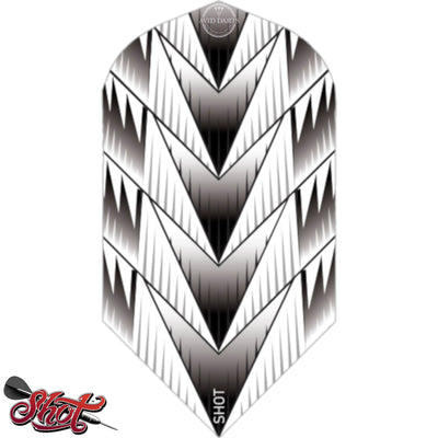 Dart Flights - Shot - Slim Dart Flights Tribal Weapon White
