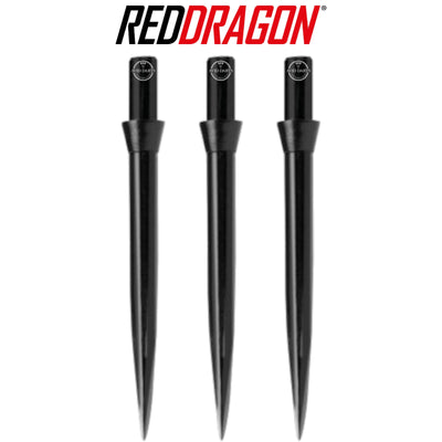 Point Accessories - Red Dragon - Black Trident Dart Points - 32mm Black