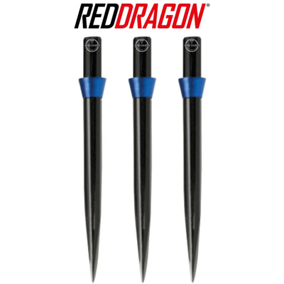 Point Accessories - Red Dragon - Black Trident Dart Points - 32mm Blue