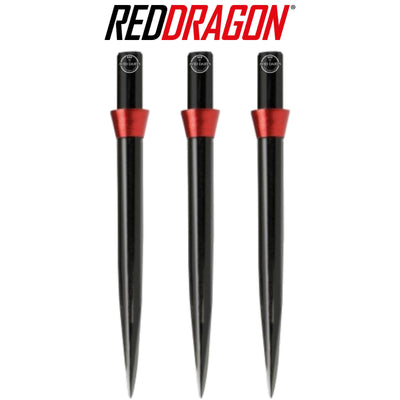 Point Accessories - Red Dragon - Black Trident Dart Points - 32mm Red