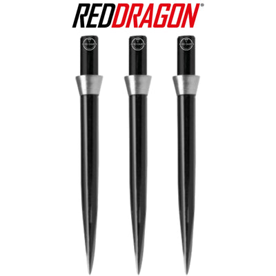 Point Accessories - Red Dragon - Black Trident Dart Points - 32mm Silver