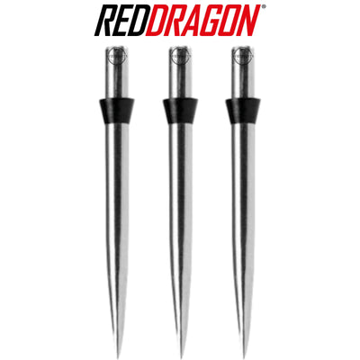 Red Dragon Darts - Point Accessories - Red Dragon - Silver Trident Dart Points - 32mm - Black