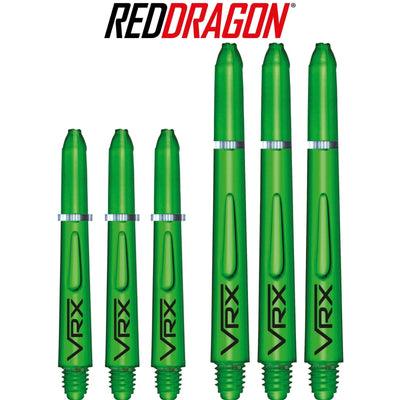RED DRAGON Darts - Shafts - VRX Polycarbonate Shafts - Short (35mm) / Green