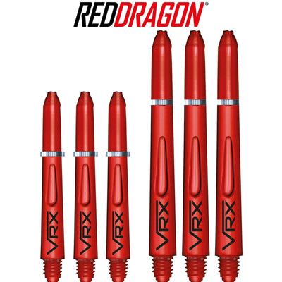 RED DRAGON Darts - Shafts - VRX Polycarbonate Shafts - Short (35mm) / Red