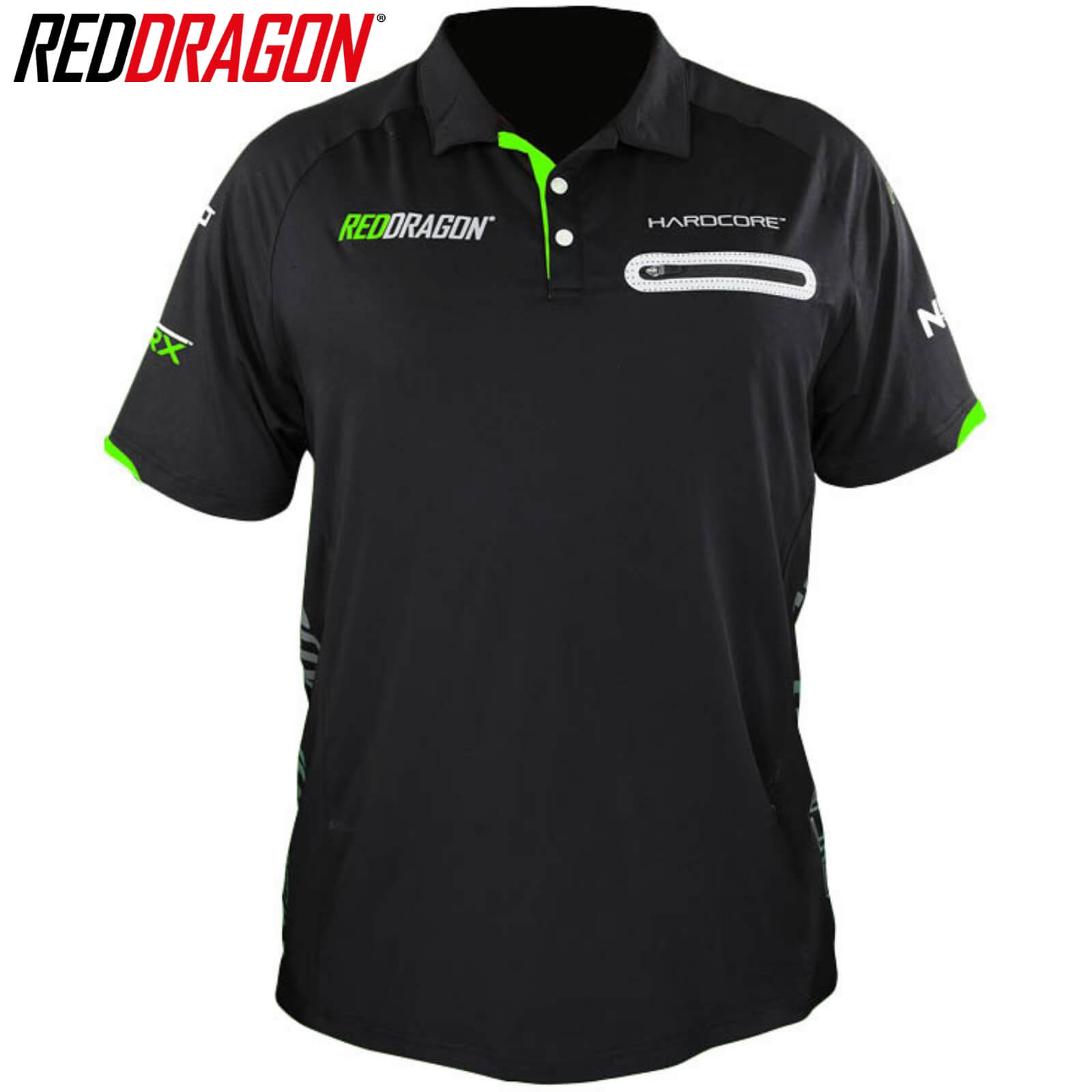 Dart Shirts - Red Dragon - Velocity RX Polo Dart Shirts - S to 3XL