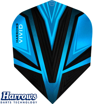 Dart Flights - Harrows - Vivid - Standard Dart Flights Aqua