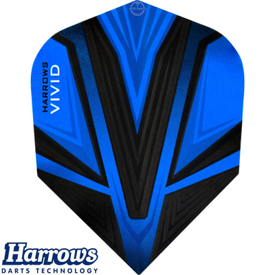 Dart Flights - Harrows - Vivid - Standard Dart Flights Blue