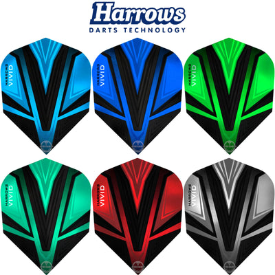 Dart Flights - Harrows - Vivid - Standard Dart Flights