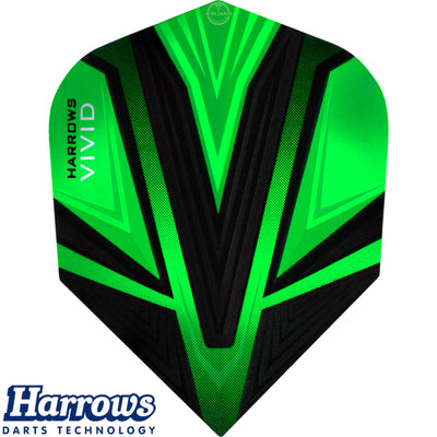 Dart Flights - Harrows - Vivid - Standard Dart Flights Green