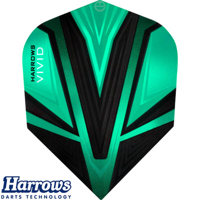 Dart Flights - Harrows - Vivid - Standard Dart Flights Jade