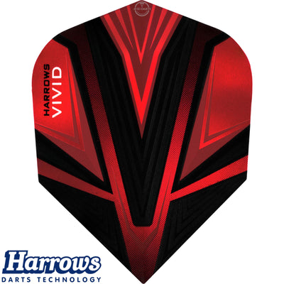 Dart Flights - Harrows - Vivid - Standard Dart Flights Red