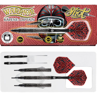Darts - Shot - Warrior Kapene Darts - Soft Tip - 90% Tungsten - 18g 20g