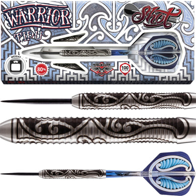 Darts - Shot - Warrior Tipu Darts - Steel Tip - 80% Tungsten - 21g 23g 25g
