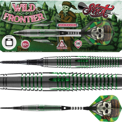 Darts - Shot - Wild Frontier Trapper Darts - Soft Tip - 80% Tungsten - 18g 20g 22g