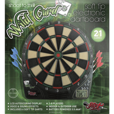 SHOT Darts - Dartboard - Wildcard Electronic Soft Tip Dartboard Set -
