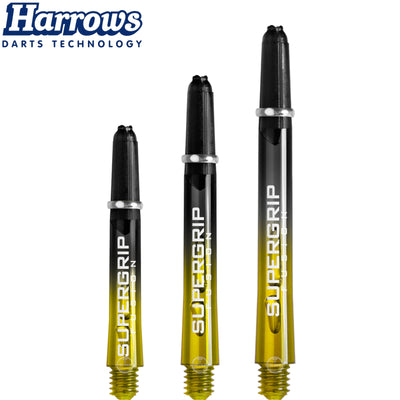 HARROWS Darts - Shafts - Supergrip Fusion-X Shafts - Short (35mm) / Yellow
