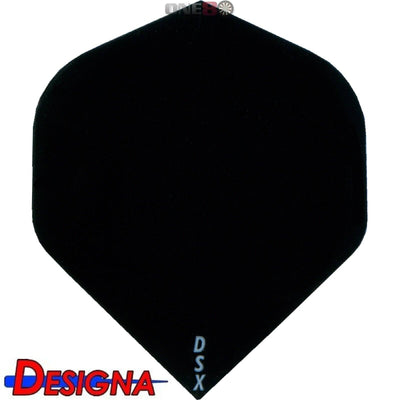 DESIGNA Darts - Flights - DSX Plain Colour Big Wing Flights - Black