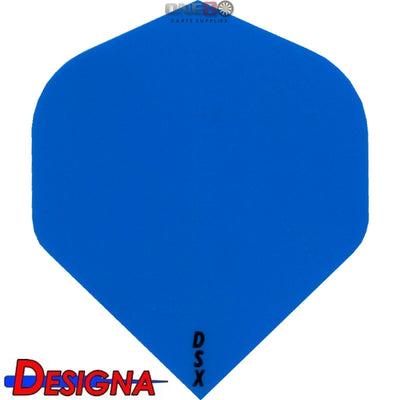 Dart Flights - Designa - DSX Plain Colour - Big Wing Dart Flights Blue