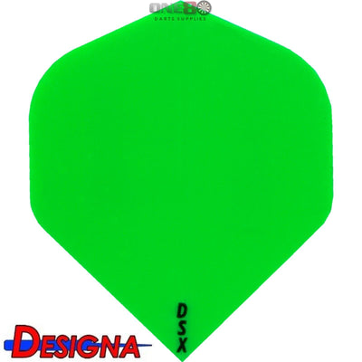 DESIGNA Darts - Flights - DSX Plain Colour Big Wing Flights - Green