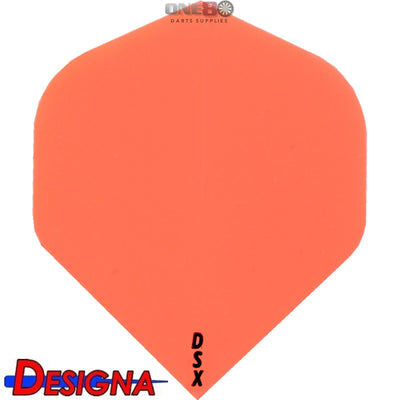 DESIGNA Darts - Flights - DSX Plain Colour Big Wing Flights - Orange