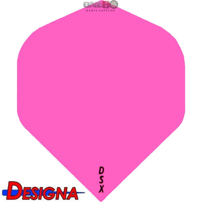Dart Flights - Designa - DSX Plain Colour - Big Wing Dart Flights Pink