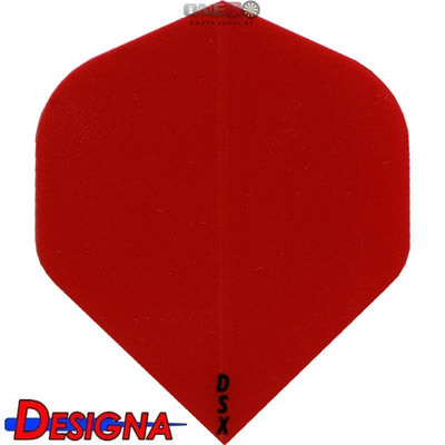 Dart Flights - Designa - DSX Plain Colour - Big Wing Dart Flights Red