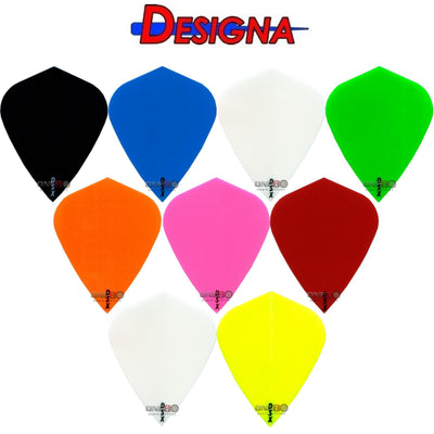 Dart Flights - Designa - DSX Plain Colour - Kite Dart Flights