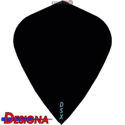 Dart Flights - Designa - DSX Plain Colour - Kite Dart Flights Black