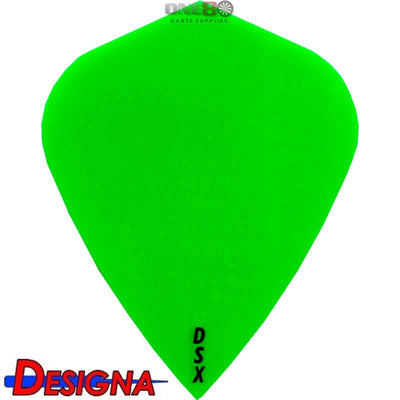 Dart Flights - Designa - DSX Plain Colour - Kite Dart Flights Green